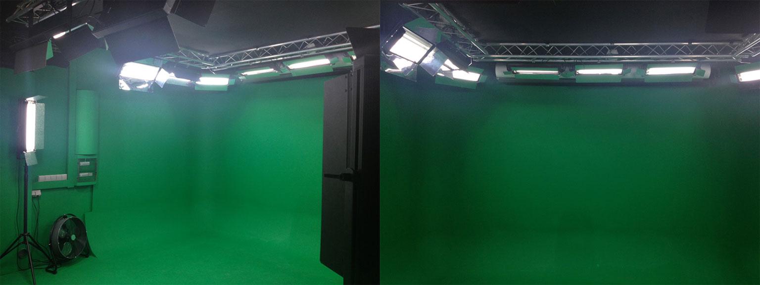 Ouverture d'une salle verte avec cyclorama